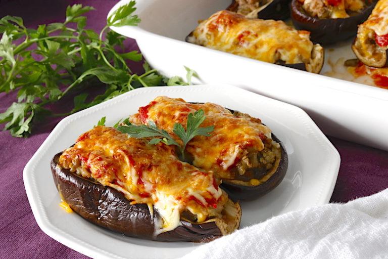 Berenjenas rellenas de carne al horno cocina a buenas horas - Berenjenas rellenas al horno ...