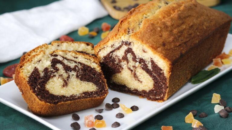 Bizcocho Marmolado o Bizcocho Mármol de Chocolate