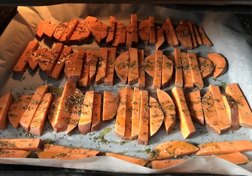 Boniato o batata al horno Horno