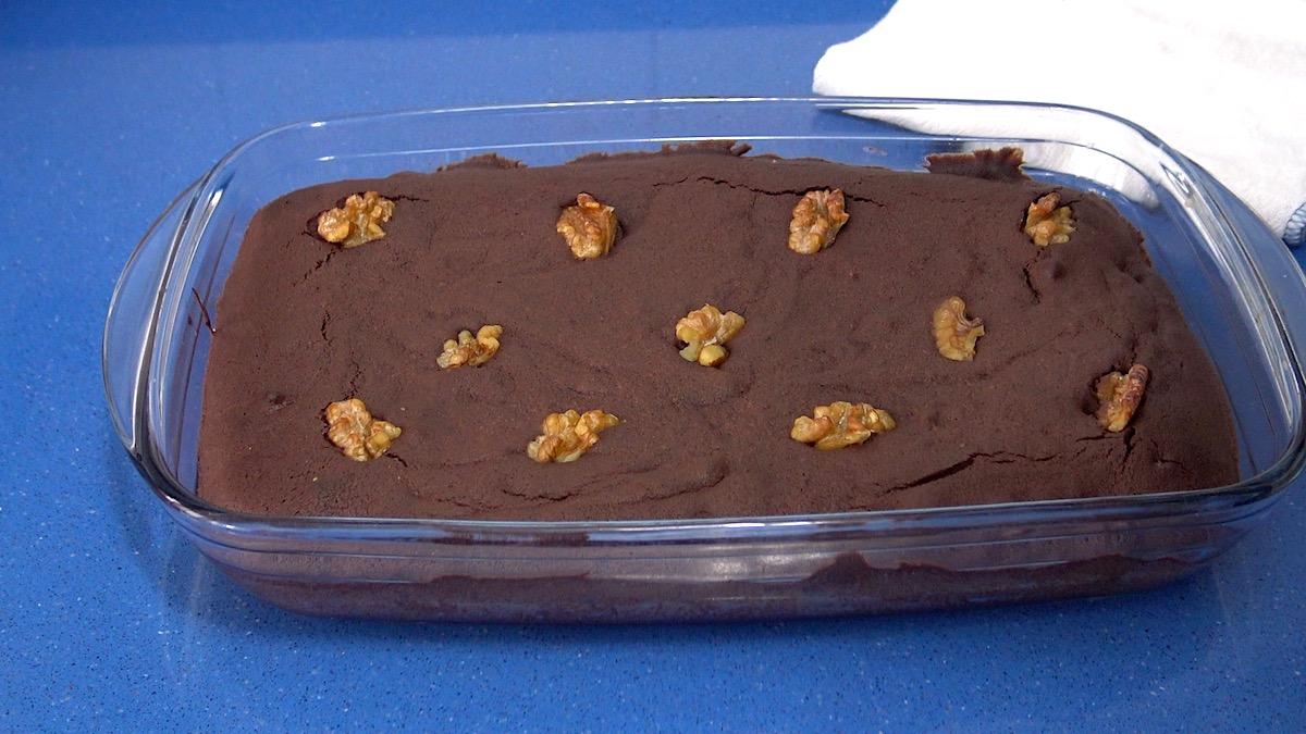 brownie casero de chocolate