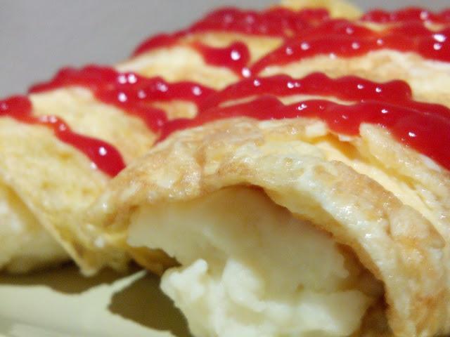 Canelones de Tortilla Rellenos de Puré y Quesitos