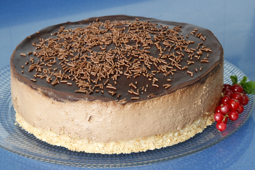tarta de queso y chocolate cheesecake de chocolate