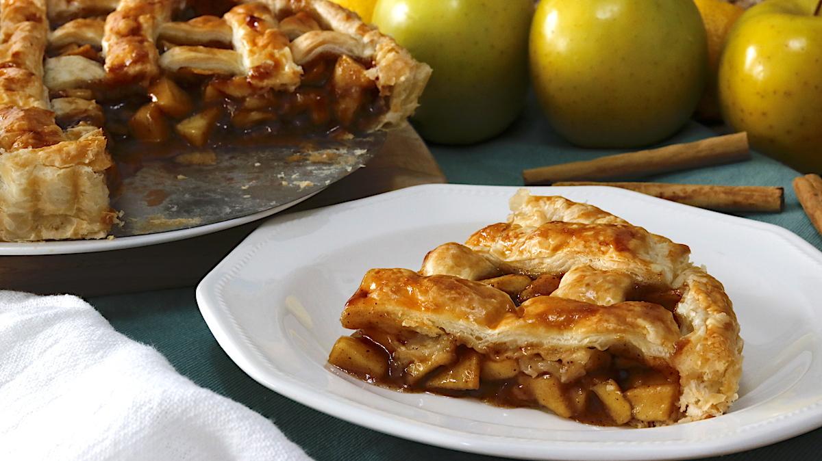 como hacer tarta de manzana enrejada