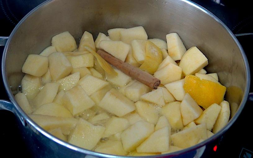 como hacer Compota de manzanas