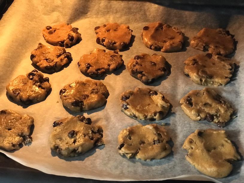 cookies de chocolate horno