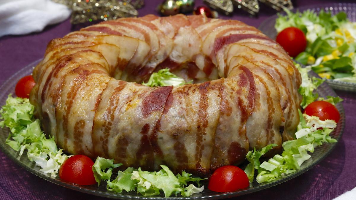 Rosca de Carne o Corona de Carne Rellena