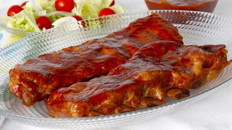 Costillas con Salsa Barbacoa