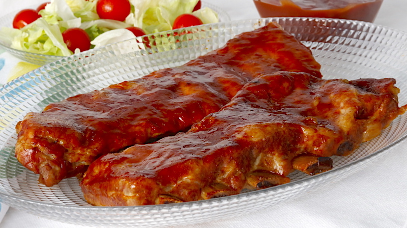 Costillas con Salsa Barbacoa