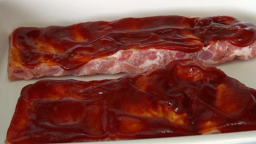Costillas en salsa barbacoa macerado
