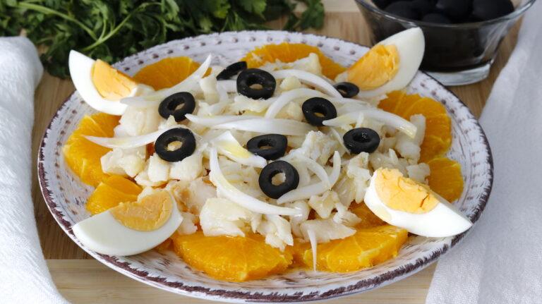 Remojón Andaluz. Ensalada de bacalao y Naranja