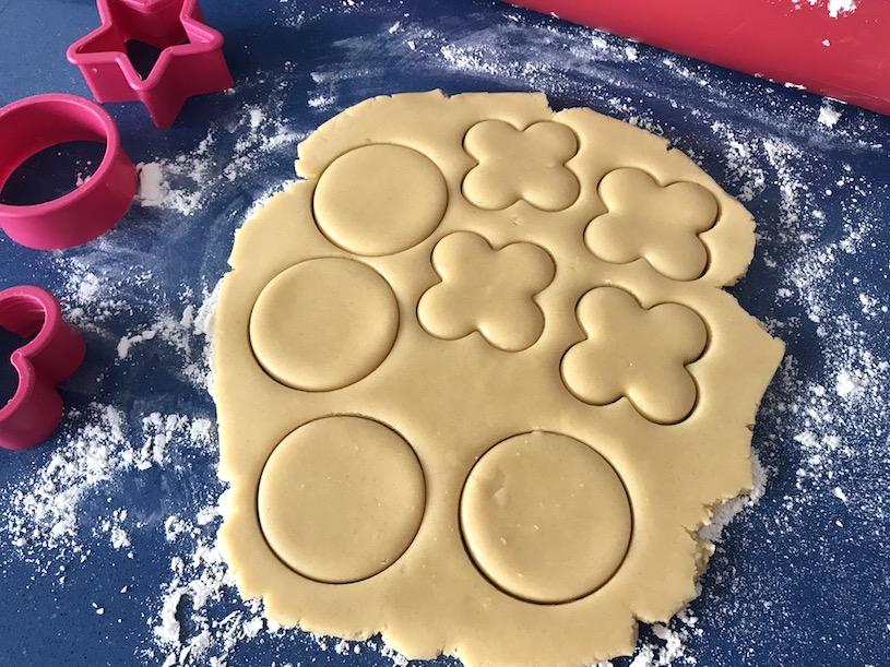 galletas de mantequilla masa figuras
