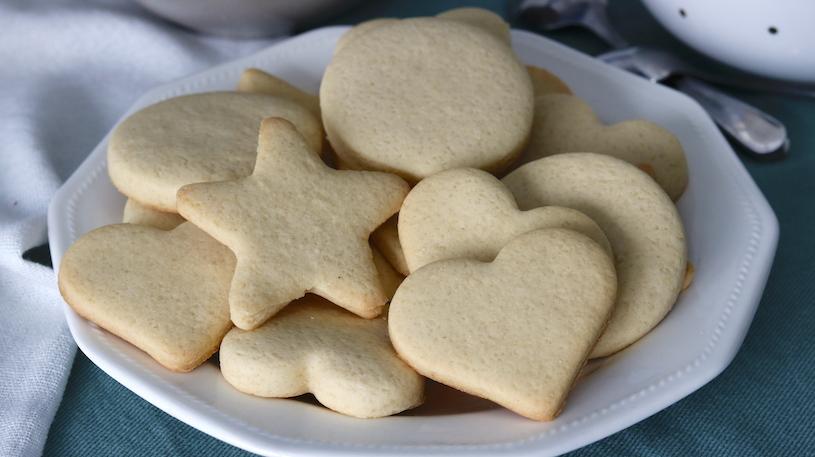 galletas de mantequilla muy cerca