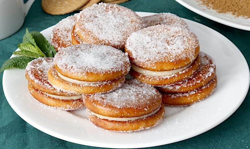 galletas fritas rellenas cerca