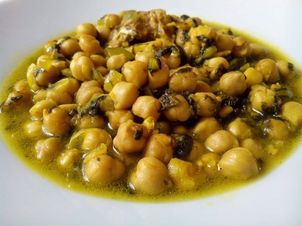 Garbanzos con bacalao y espinacas cocina a buenas horas - Potaje con bacalao y espinacas ...