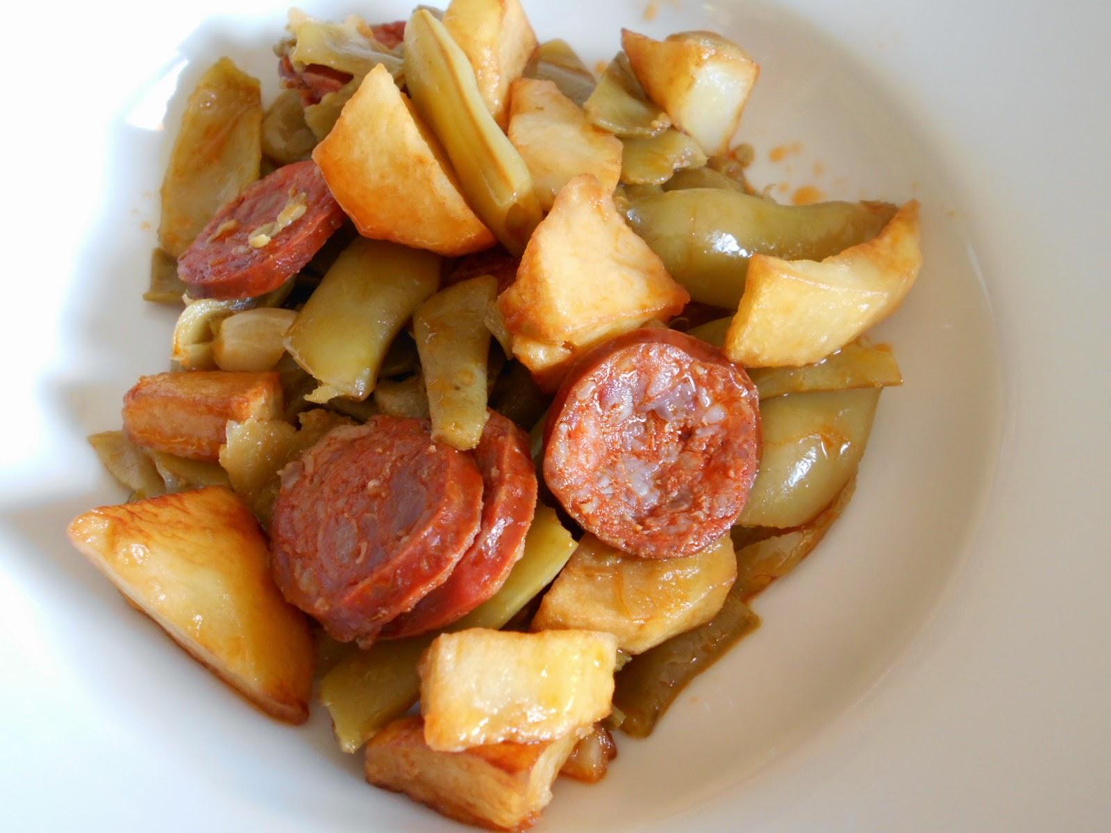 Judias Verdes con Patatas y Chorizo