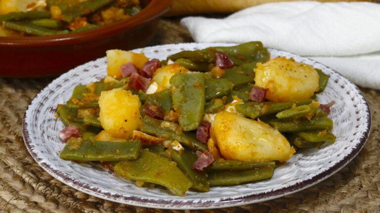 Judías Verdes con Patatas y Jamón