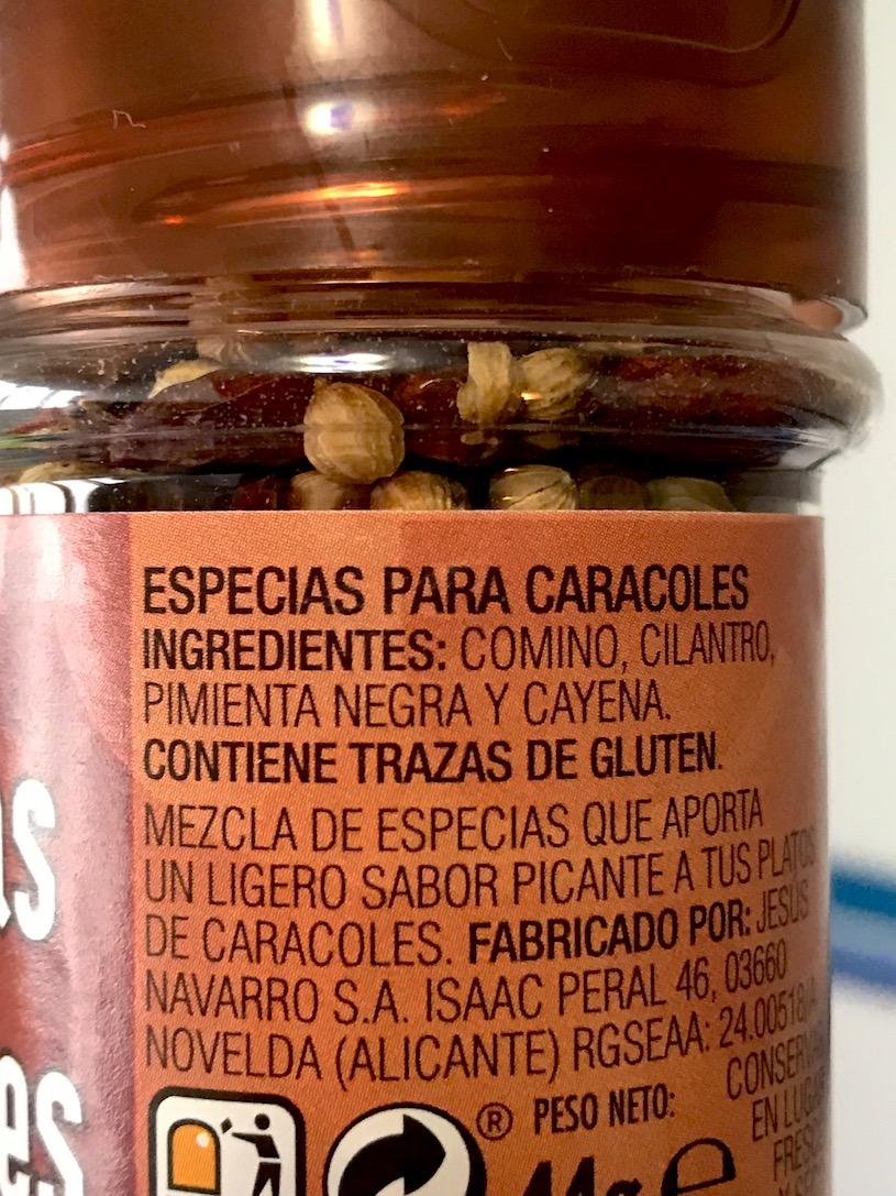 menudo de choco especias caracoles