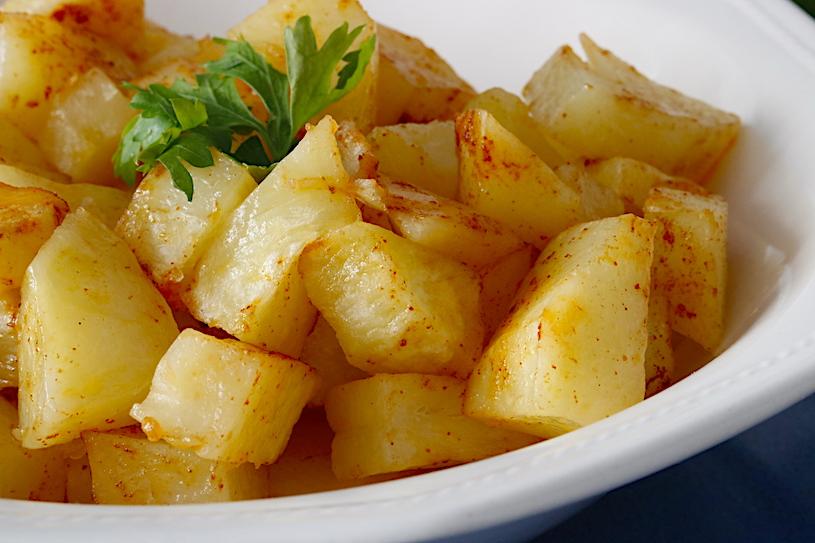 Patatas en el microondas cerca