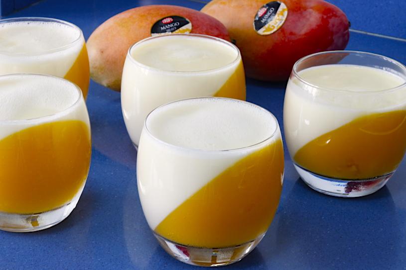 panna cotta de mango blanca