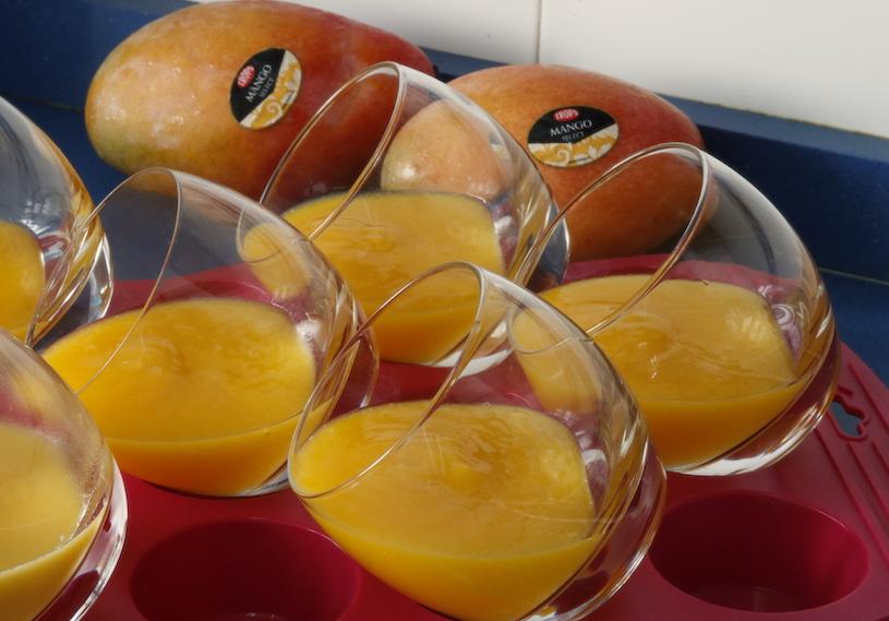 panna cotta de mango vasos