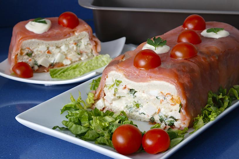 pastel de salmon trozo