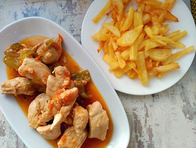 pechugas de pollo en salsa de cerveza
