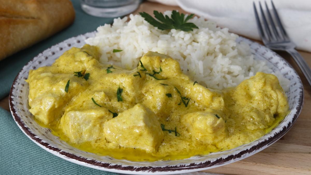 Pollo al Curry Muy Fácil