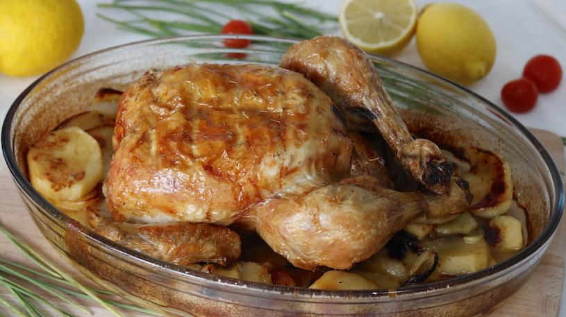 Pollo Asado al Horno con Patatas