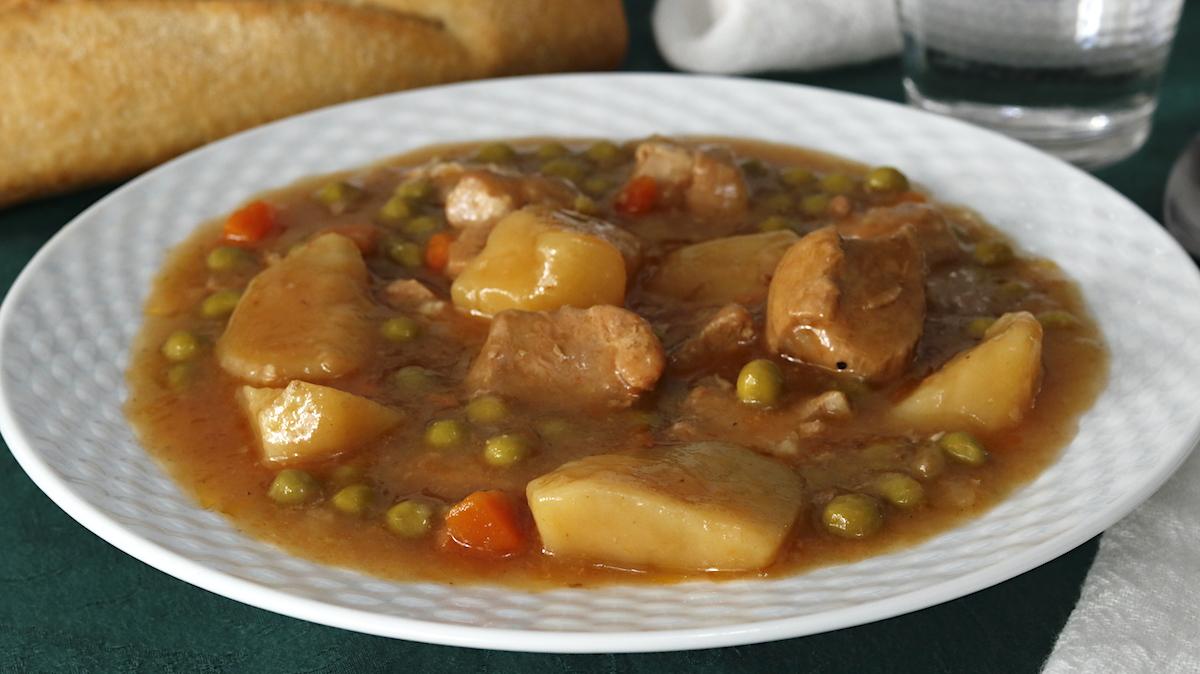 Estofado de Cerdo con Patatas y Verduras
