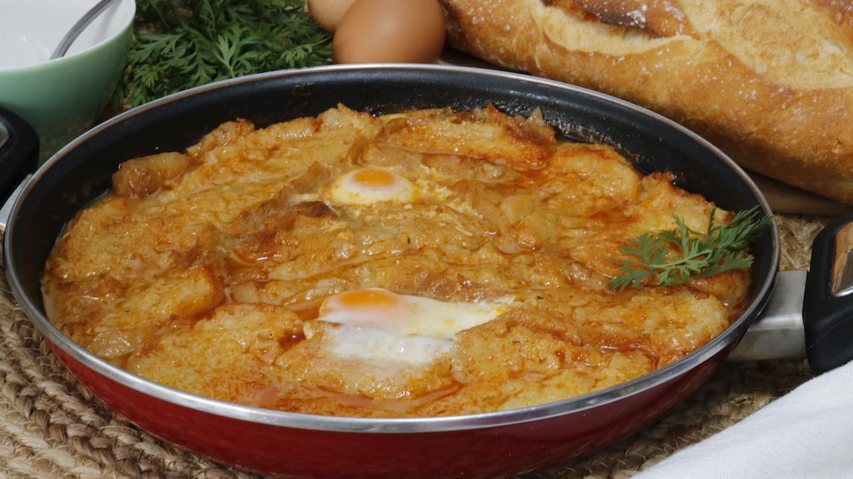 receta de la sopa de ajo o sopa castellana