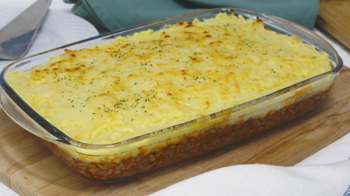 receta de pastel de carne picada y patata