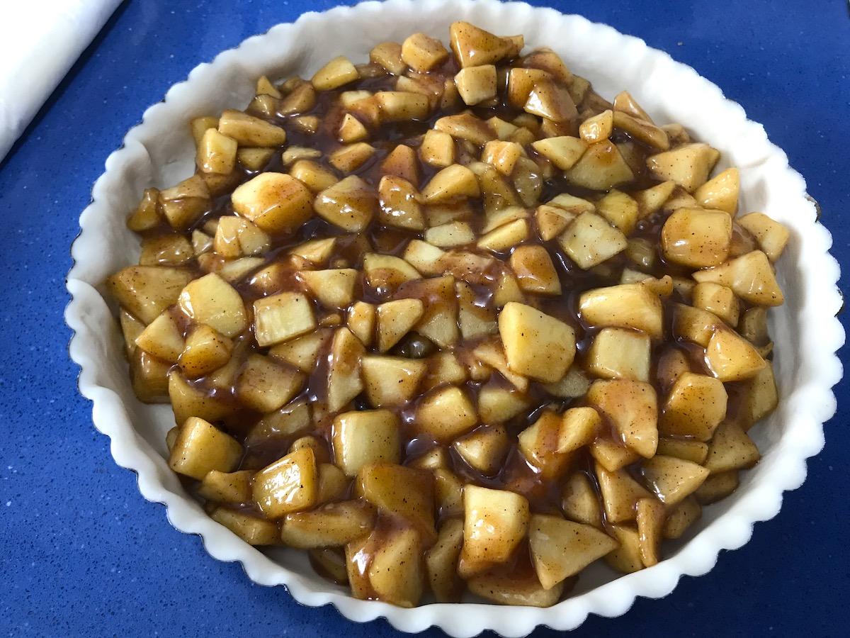 receta de tarta de manzana enrejada
