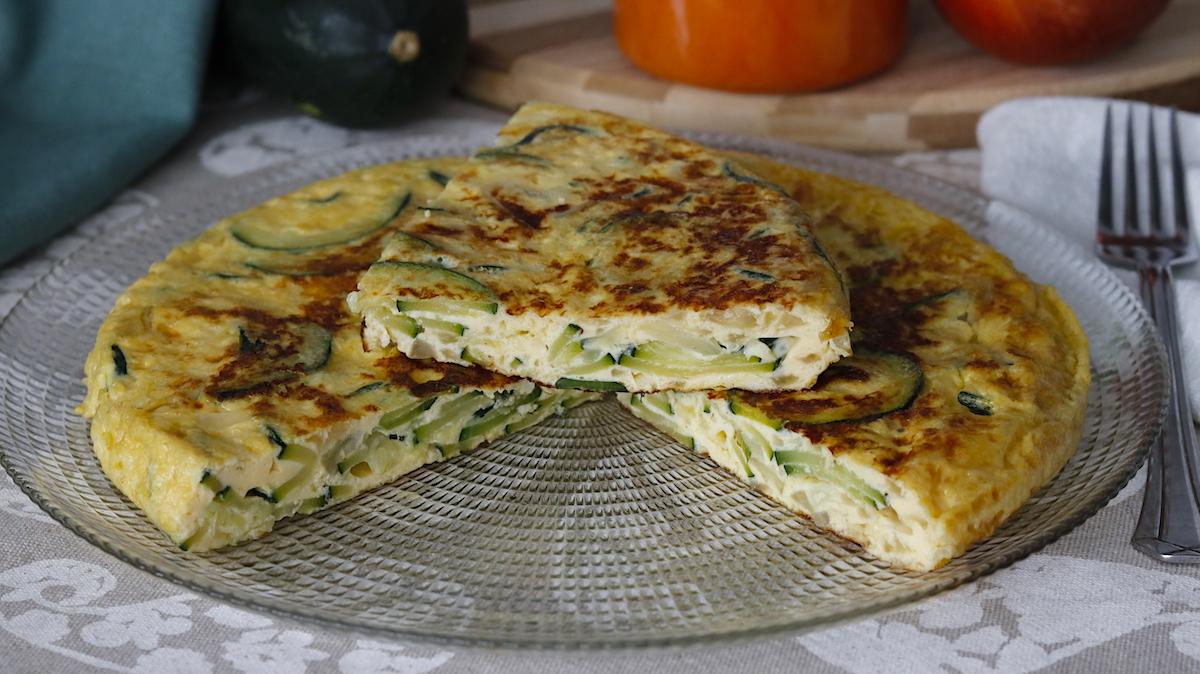 receta de tortilla de calabacin y cebolla
