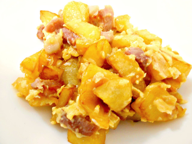Revuelto de Bacon y Patatas