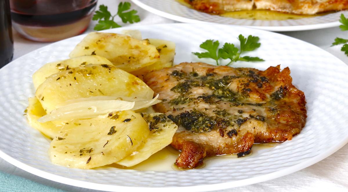 Secreto Ibérico de Cerdo al Horno con Patatas