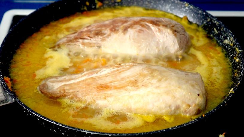 Solomillo en salsa coccion