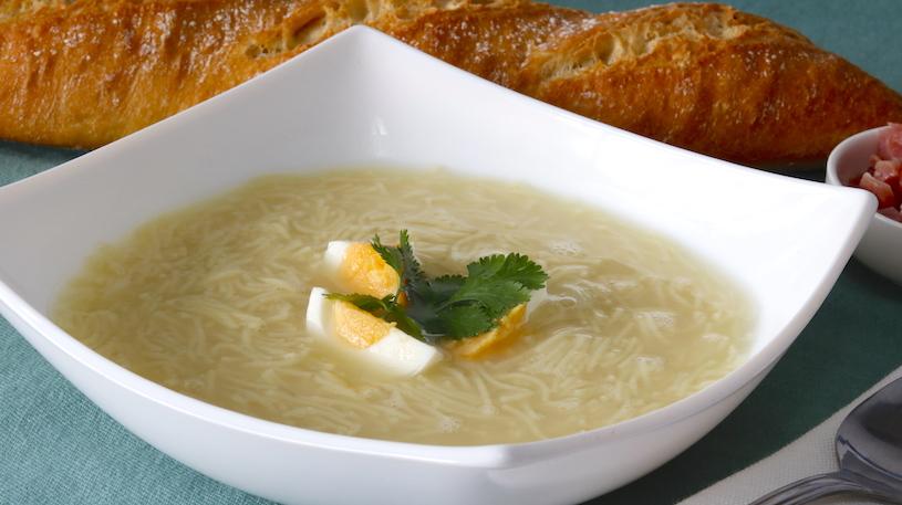 receta de sopa de fideos