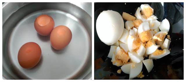 huevos cocidos para sopa de picadillo