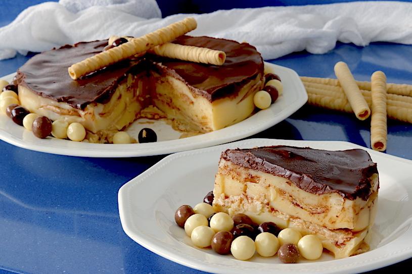 Tarta de Galletas y Crema Pastelera