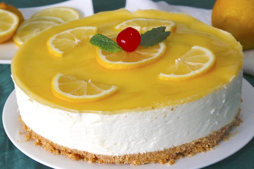 tarta de limon y nata