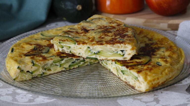 Tortilla de Calabacín y Cebolla